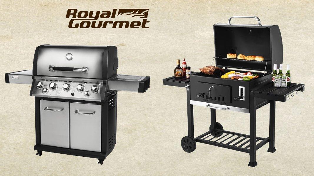Monipuolisessa Royal Gourmet -grillissä valmistuvat hetkessä kesän herkut.