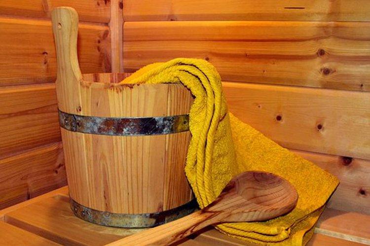 Tekstiileillä teet saunasta tunnelmallisen.